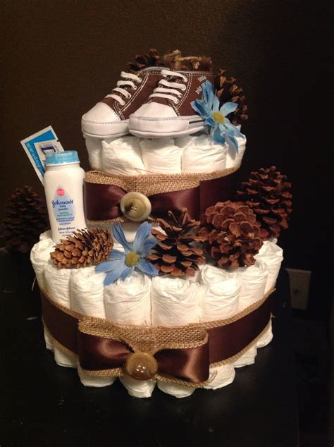 woodforest themed boys diaper cake marcis board