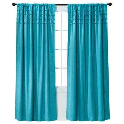 xhilaration tie dye curtains got in teal and in yellow xhilaration solid with pom poms