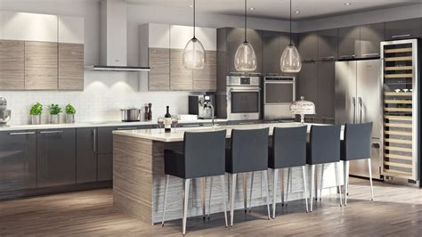 cuisine ouverte avec ilot photo cuisine moderne cuisine en image