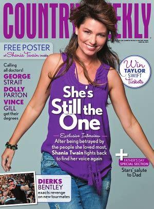Stereo Beat: Shania Twain é capa da revista Country Weekly