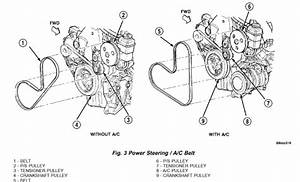 I Need A Diagram To Show Me How To Replace And Reinstall My Serpentine Belt In My 2004 Dodge