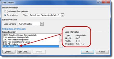 printing envelopes and labels part 2 labels office guru