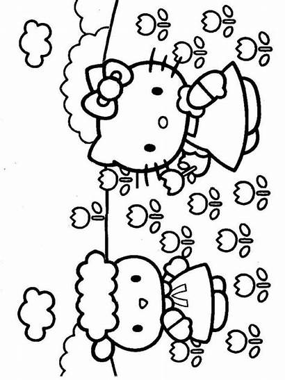 Kitty Hello Coloring Pages Printable