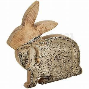 Deko Aus Holz : hase osterhase deko holz metall ornament muster braun silber 1 stk 25 cm kaufen matches21 ~ Markanthonyermac.com Haus und Dekorationen