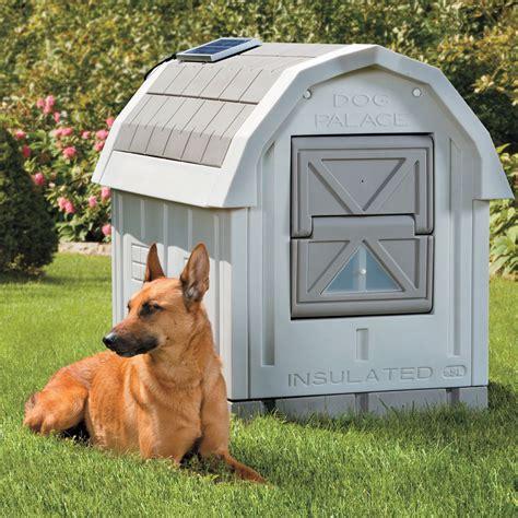 dog palace insulated dog house  green head