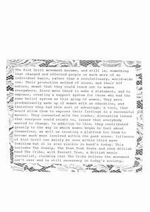 DESIGN CONTEXT: RIOT GRRRL - manifesto zine development