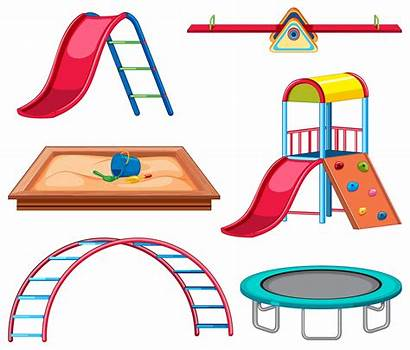 Playground Equipment Vector Graphics Clipart Slide Objects