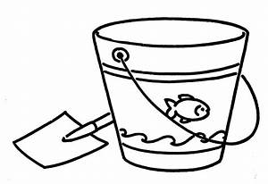 Beach black and white sand bucket black and white clipart ...