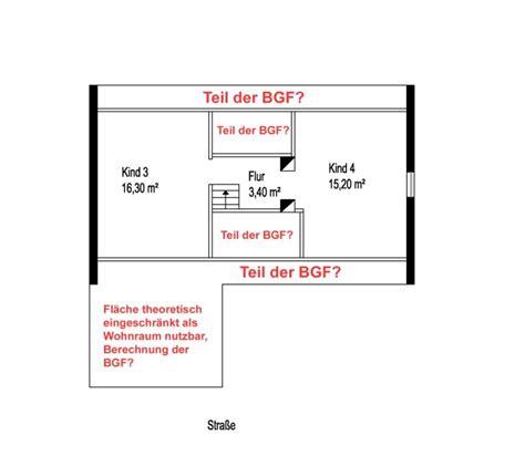 berechnung bgf ausgebautes dachgeschoss ohne drempel