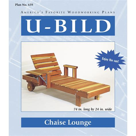 shop  bild chaise lounge woodworking plan  lowescom