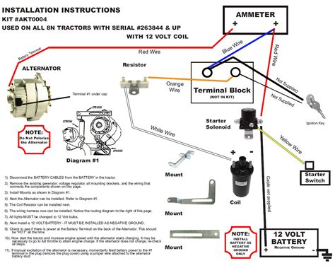 Ford 8n Coil Wiring by New Generator Alternator Fits Conversion Kit Late Model