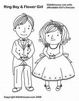 Coloring Pages Ring Bearer Bride Groom Flower Printable Cartoon Boy Boys Colour Sheets Books Weddings Dresses Template Children Customized Popular sketch template