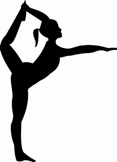 Yoga Silhouette Clipart Stretching Gymnastics Ballerina Exercise