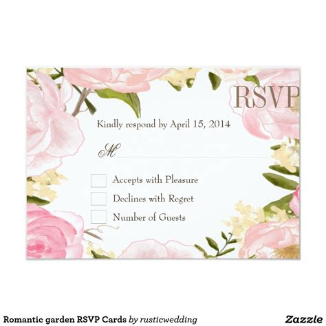 Romantic garden RSVP Cards Zazzle com Rsvp wedding