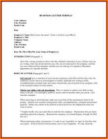 Exle Of Resume Letter Pdf by Sle Business Letter Format With Thru Cover Letter Templates