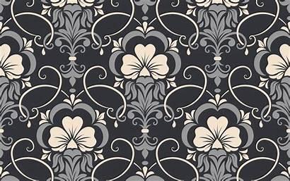 Seamless Texture Damask Pattern Background Gray Flower