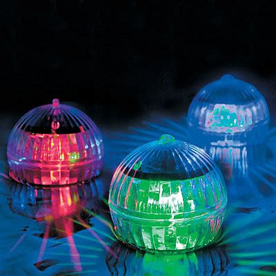 floating solar pool lights set of 6 contemporary