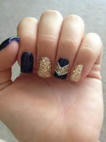 Gallery for gt black and gold acrylic nail designs