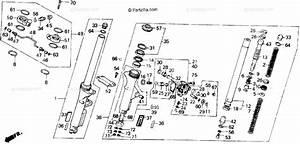 Honda Motorcycle 1987 Oem Parts Diagram For Front Fork
