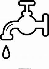 Water Faucet Coloring Clipart Clip Transparent Pinclipart sketch template