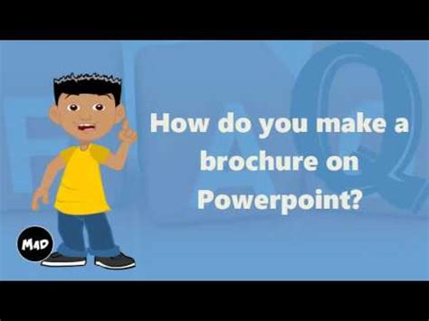 How To Make Powerpoint Brochure How Do You Make A Brochure On Powerpoint