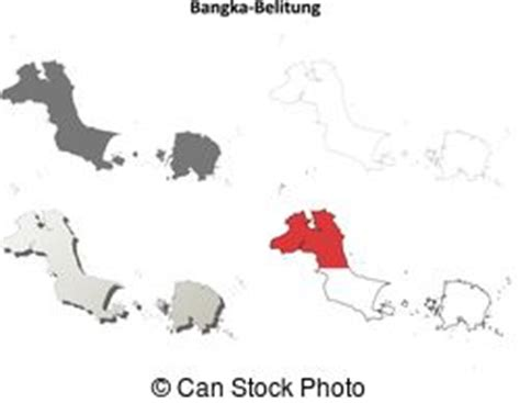 bangka belitung islands map bangka belitung islands