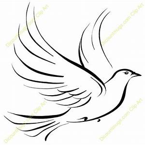 Fancy Line Accent Funeral Clipart Pigeon Peace Pencil And In Color