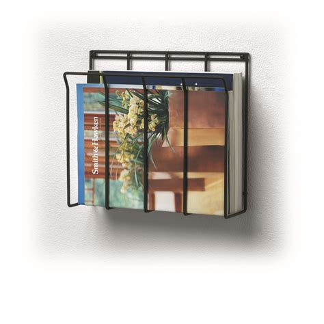 wall mount magazine rack wall mount wire magazine rack newspaper caddy spectrum