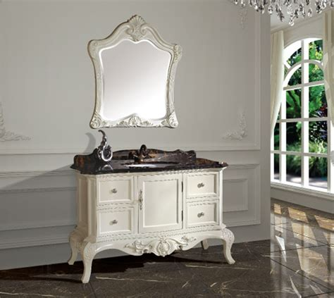 new arrival antique bathroom cabinet with mirror and basin