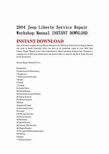 2004 Jeep Liberty Service Repair Workshop Manual Instant