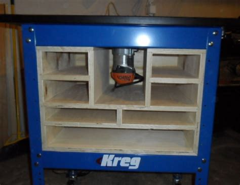 kreg router stand cabinet woodworking talk woodworkers