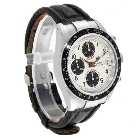Tudor Tiger Woods Prince Date Panda Dial Leather Strap ...