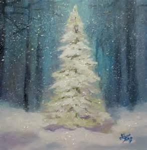 Christmas Tree Acrylic Painting