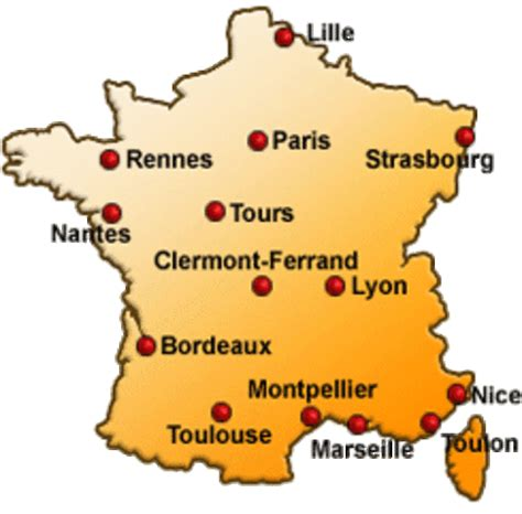 Carte De Avec Villes Principales by Villes Principales De Voyages Cartes