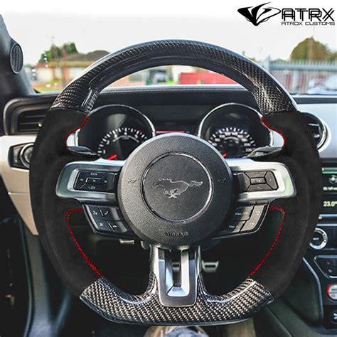 volante deportivo fibra carbono alcantara ford mustang