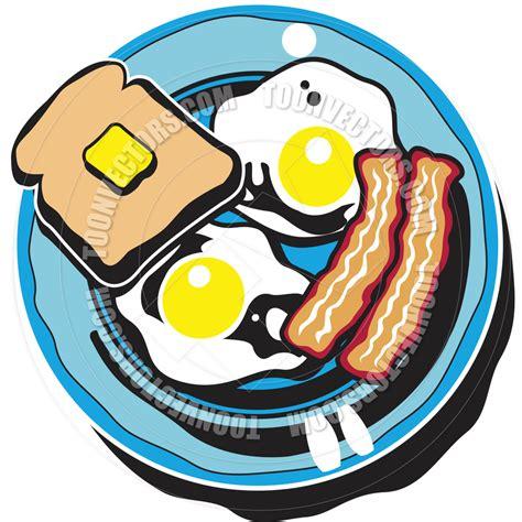 Cartoon Breakfast Plate
