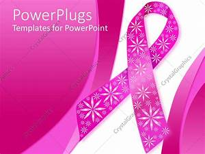 breast cancer ppt template - powerpoint template pink breast cancer ribbon with