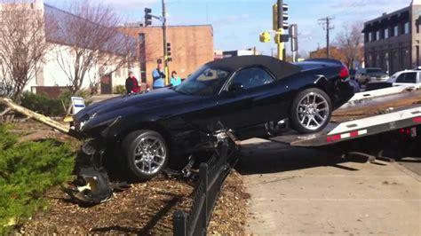 2012 Brand New Dodge Viper Car Crash Accident Страшная