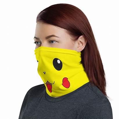 Mask Face Neck Gaiter Pokemon Anime Funny