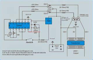 Simple Watt Inverter Circuit Diagram All About