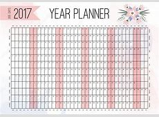 Year Wall Planner Plan out your whole year with this 2017