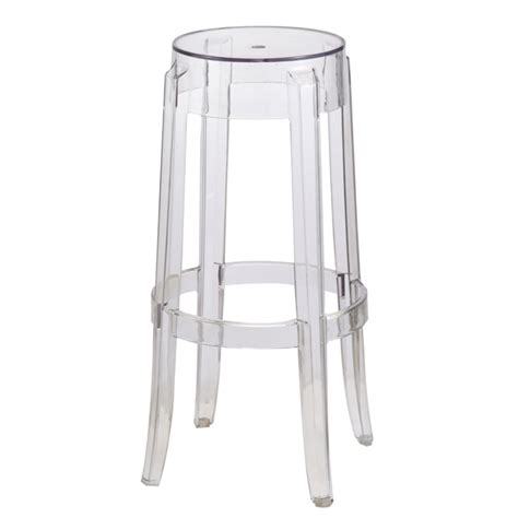 philippe starck style charles ghost bar stool