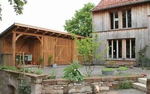 Garagenanbau Mit Terrasse : fachwerk schuppen garage werkstatt mit gartenlaube ~ Lizthompson.info Haus und Dekorationen