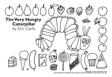hungry caterpillar coloring page az coloring pages