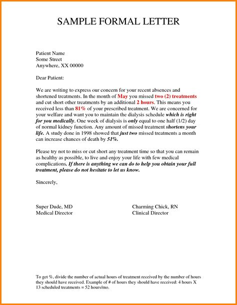 current format  formal letter letters  sample