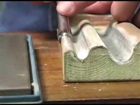 woodcarving basics  sharpening gouges   tools