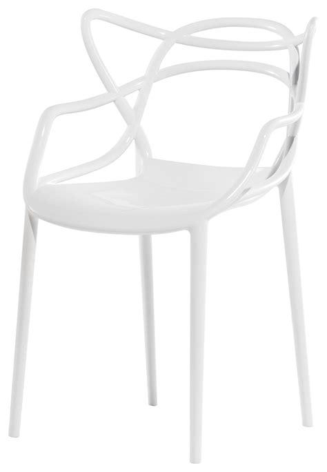 fauteuil empilable masters plastique blanc kartell