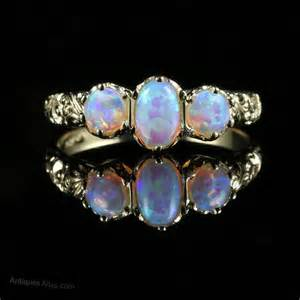 Antiques Atlas  Opal Three Stone Ring Trilogy Gold. Traditional Wedding Wedding Rings. Colored Diamond Rings. Blue Green Sapphire Engagement Rings. Real Rings. Polish Engagement Rings. Renaissance Wedding Wedding Rings. Pretty Pink Engagement Rings. Musical Wedding Rings