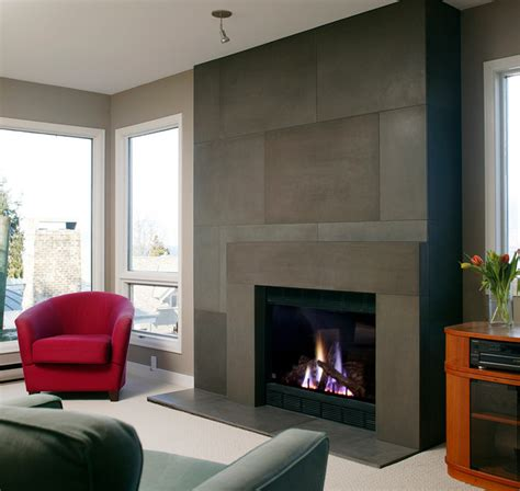 resurfacing fireplace with modern span surround and concrete tile by solus modern