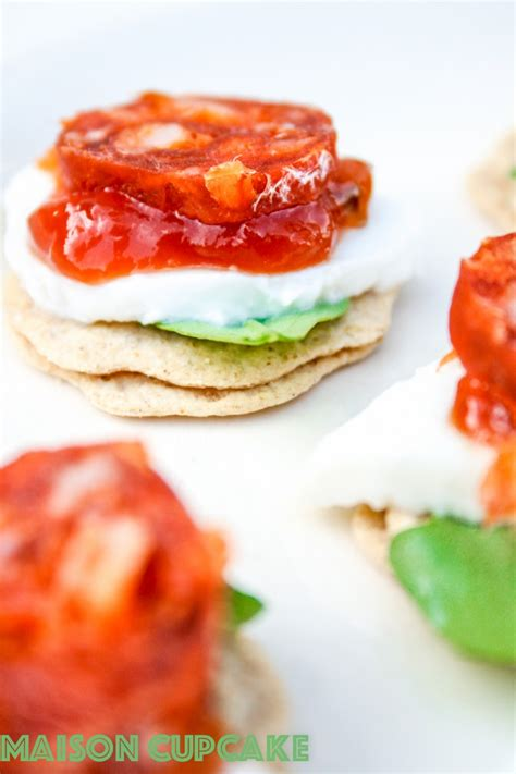 easy canapes to in advance chorizo canapes recipe with mozzarella and rocket